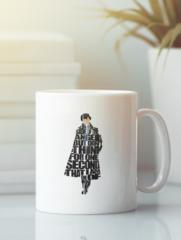 Кружка с рисунком Шерлок (Sherlock, Бенедикт Камбербэтч) белая 0010