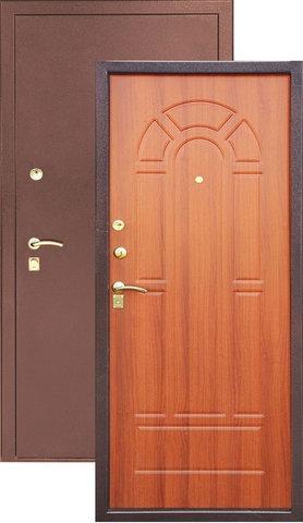 Дверь входная Z-4 стальная, итальянский орех, 2 замка, фабрика Арсенал
