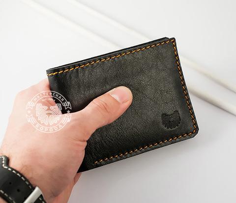 WB123 Классический кошелек для купюр и карт из натуральной кожи