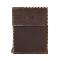 Бумажник Klondike Yukon, с зажимом для денег, коричневый, 12х1,5х9 см
