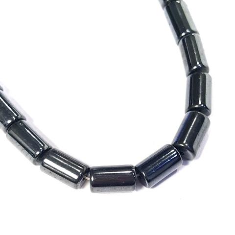 Бусины гематит цилиндр 12 х 7,5 мм черный 1 штука