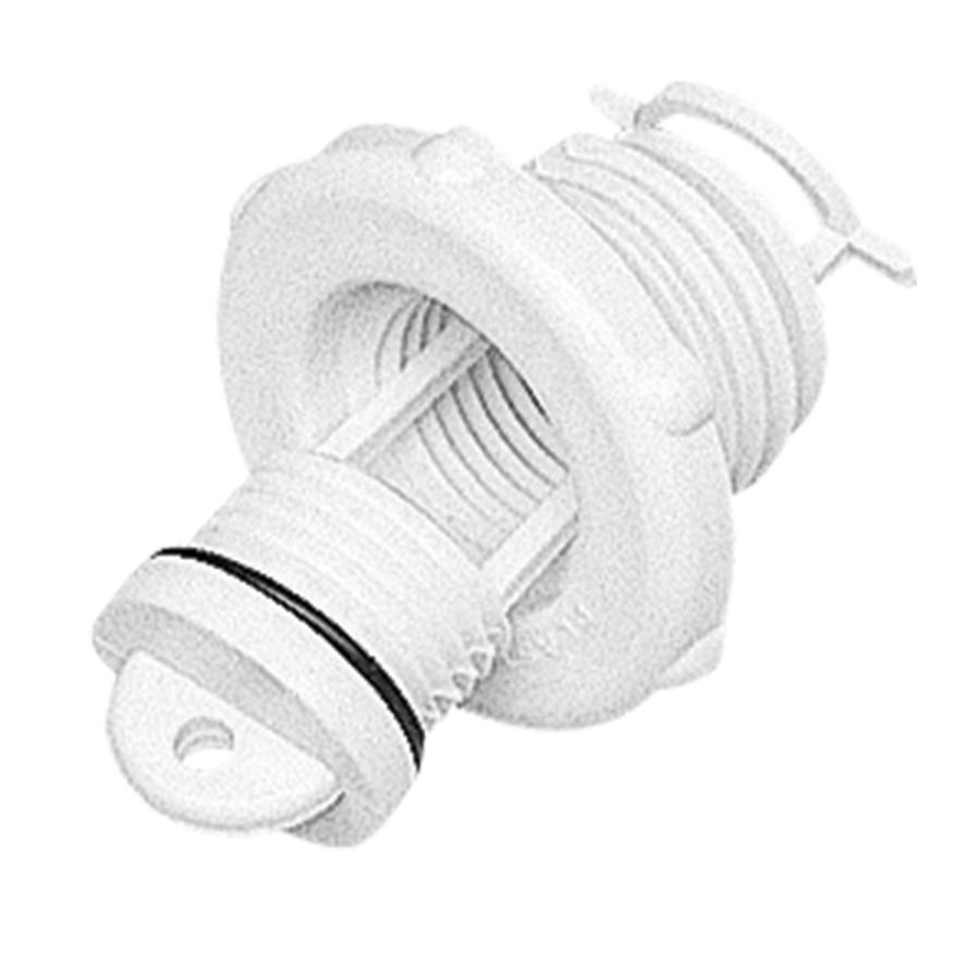 Drain Socket, with Captive Plug, Ø46mm, White