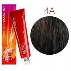 Matrix Color Sync: Ash 4A шатен пепельный, крем-краска без аммиака, 90мл