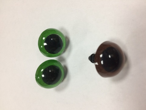 Глазки винтовые для игрушки, 16 мм