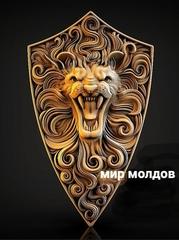 Силиконовый молд  № 446 Накладка Лев