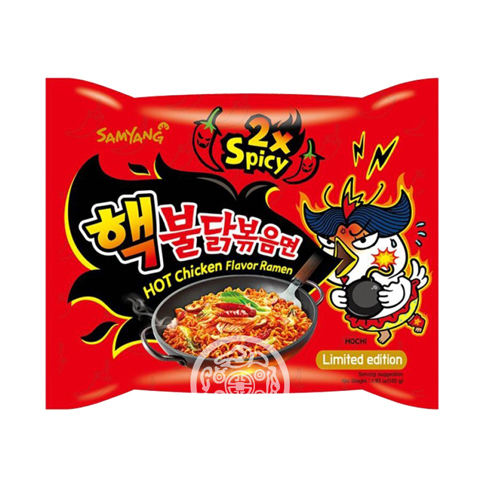 Лапша б/п Hot chiken flavor ramen 2x spicy со вкусом курицы 140г SAMYANG Корея