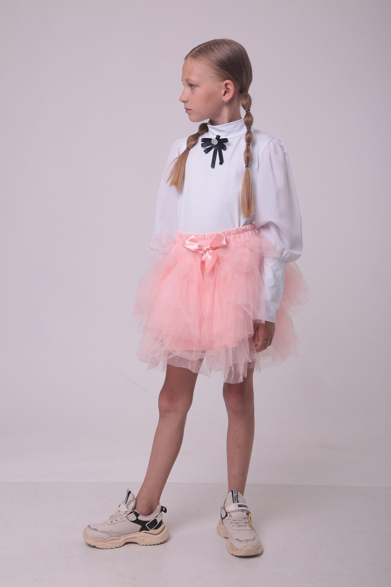 Блуза для девочки широкий рукав-фонарик Benini Турция, 9540 (140-176)