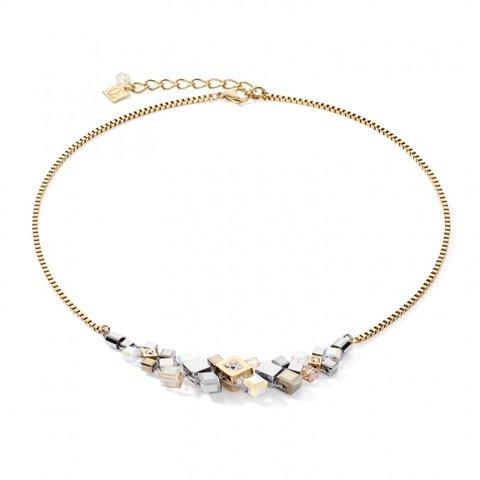 Колье Golg-Silver 5037/10-1617 цвет прозрачный, белый, золотой