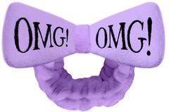 Бант-повязка для фиксации волос во время косметических процедур, лавандовый Double Dare OMG! HAIR BAND-HOT PINK
