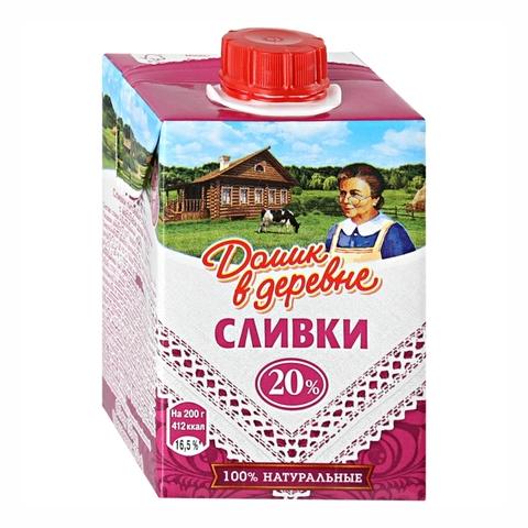 Сливки ДОМИК В ДЕРЕВНЕ 20% 200 мл т/п РОССИЯ
