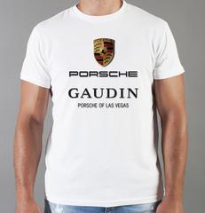 Футболка с принтом Порше (Porsche) белая 008