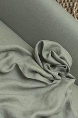 Лён смягченный цвет СЕРО-ГОЛУБОЙ