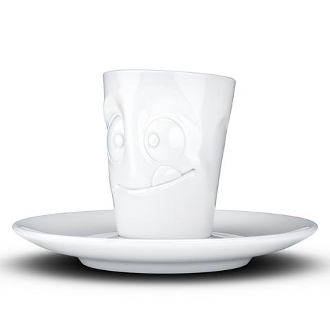 Кофейная чашка с блюдцем Tassen Tasty 80 мл белая