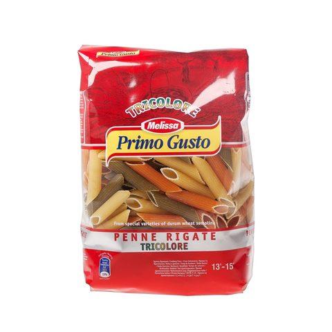 Паста Пенне Ригате Триколор томатно шпинатная Melissa Primo Gusto 500г
