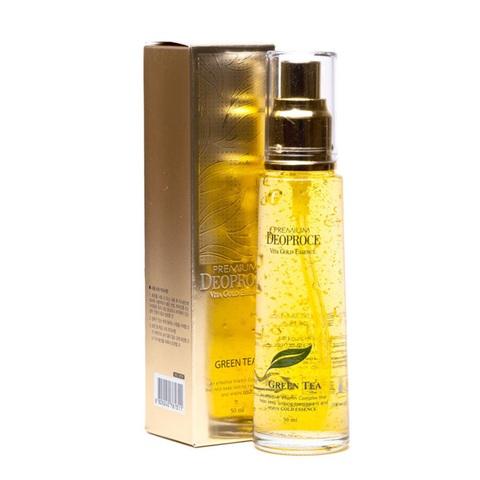 Deoproce Premium Vita Gold Essence Green Tea эссенция с экстрактом зеленого чая и золотом