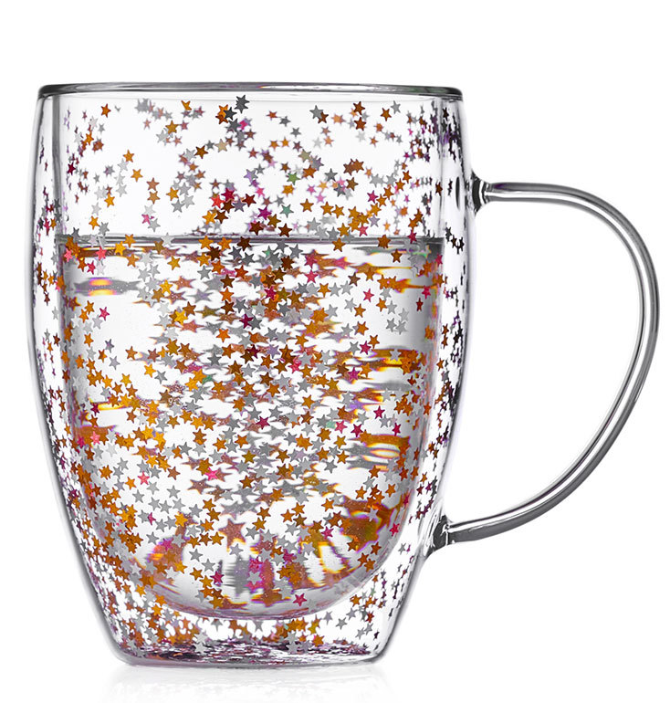 Кружки (двойная кружка) Кружка с двойными стенками со звездочками внутри 350 мл, стеклянная Stardust Glaffe kruzhka-s-dvoynimy-stenkamy-2-105-350H-teastar.jpg