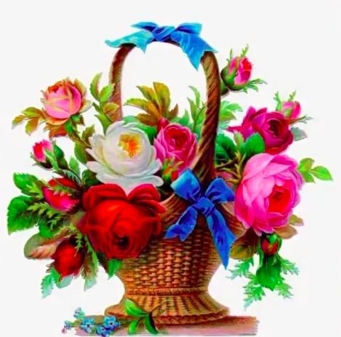 Алмазная Мозаика 20x30 Букет роз в корзинке (арт. JS20499)