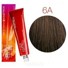 Matrix Color Sync: Ash 6A темный блондин пепельный, крем-краска без аммиака, 90мл