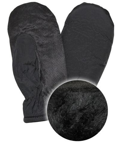 Варежки черные Дюспа  + мех