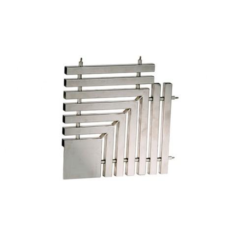 Угловая под плитку 90 градусов для переливной решетки 195*35 мм нержавеющая сталь сталь AISI-304 XENOZONE