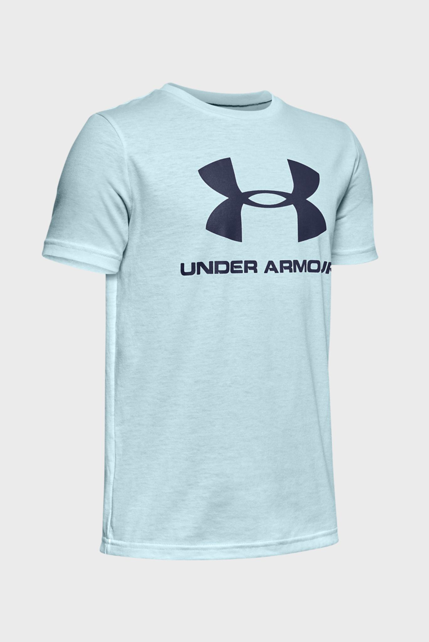 Детская голубая спортивная футболка Sportstyle Logo SS Under Armour