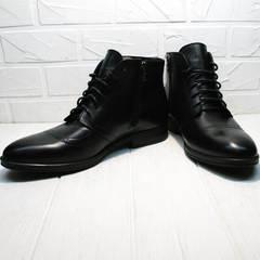 Модные ботинки мужские зимние кожаные Ikoc 3640-1 Black Leather.
