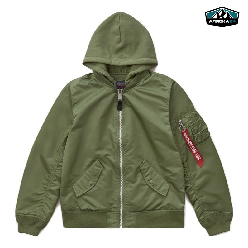 Бомбер Alpha Industries L-2B Natus Sage Green