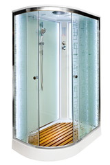 Душевая кабина DETO ЕМ1511 R 110х80 см с LED-подсветкой