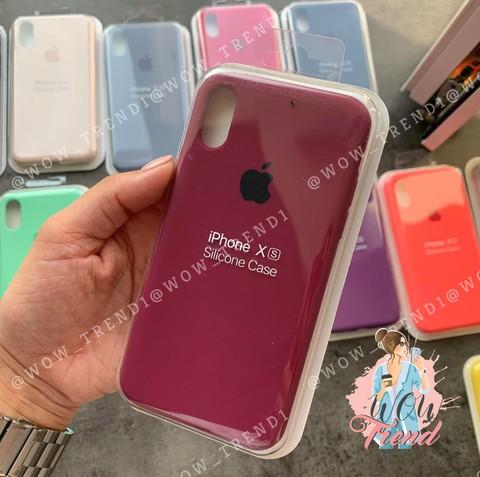 Чехол iPhone XS Max Silicone Case Full /marsala/ марсал