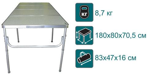 Стол складной Canadian Camper CC-TA483, характеристики.