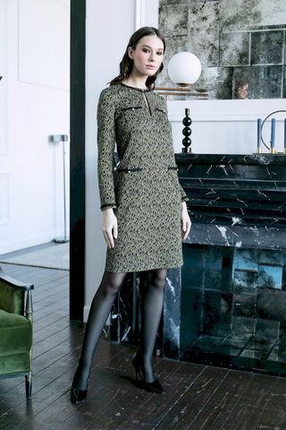 Фото платье-футляр с круглой горловиной и вырезом-каплей - Платье З485-013 (1)