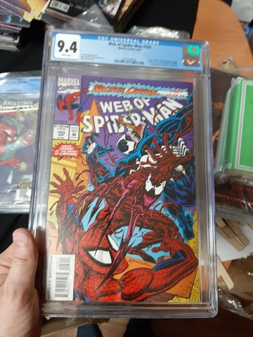 CGC Web of Spider-Man #103. Maximum Carnage Состояние 9,4