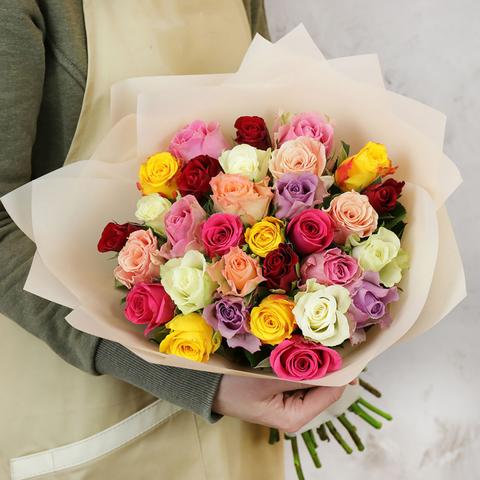 Букет 31 роза 40см