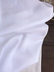 Лен сорочечный 100%, 140г/м, Белый