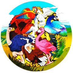 Деревянный пазл Зоопазл Экзотические птицы Нескучные Игры 8277