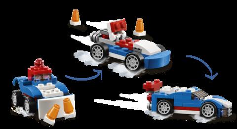 LEGO Creator: Синий гоночный автомобиль 31027 — Blue Racer — Лего Креатор Создатель