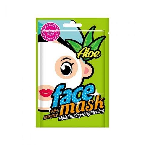 Маска для лица тканевая BLING POP Aloe Moisturizing Brightening Mask 20 мл