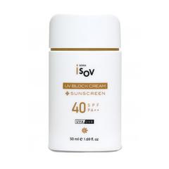 ISOV Противоотечный солнцезащитный крем UV BLOCK SPF 40++ с экстрактом брокколи