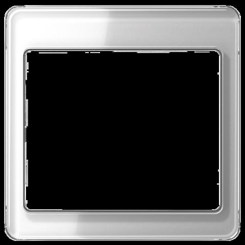 Рамка на 1 пост. Цвет Серебро. JUNG SL. SL581SI