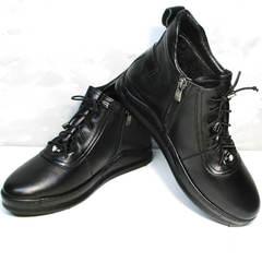 Кожаные ботинки женские Evromoda 375-1019 SA Black