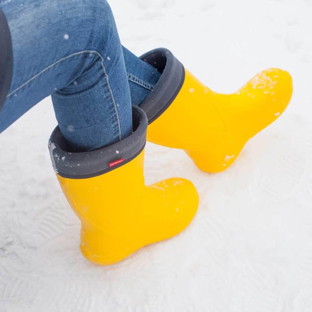 Женские сапоги Nordman Silla из ЭВА Желтые с флисовым вкладышем