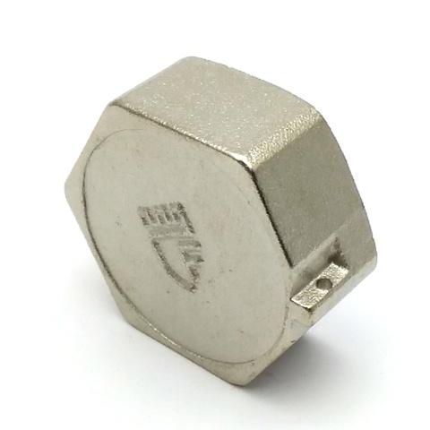 Заглушка латунная никелированная SD Forte 1 с внутренней резьбой