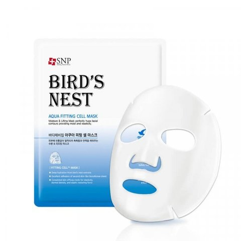 SNP Bird's Nest Aqua Fitting Cell Mask 10PC