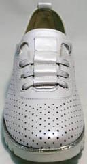 Красивые женские туфли на спортивной подошве летние Mi Lord 2007 White-Pearl.