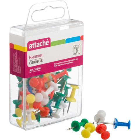 Кнопки силовые Attache ассорти (11 мм, 30 штук в упаковке)