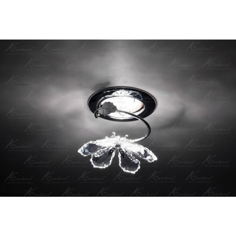 Встраиваемый светильник Kantarel BLOSSOM CD 015.2.1/1 crystal