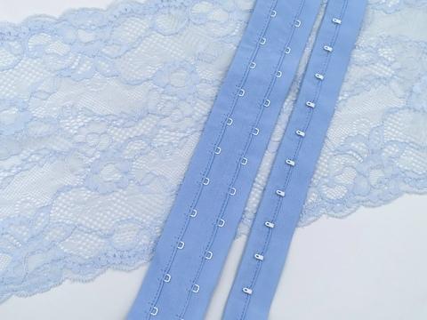 Крючки-петли на ленте, голубая мечта, (Арт: KPL-036)