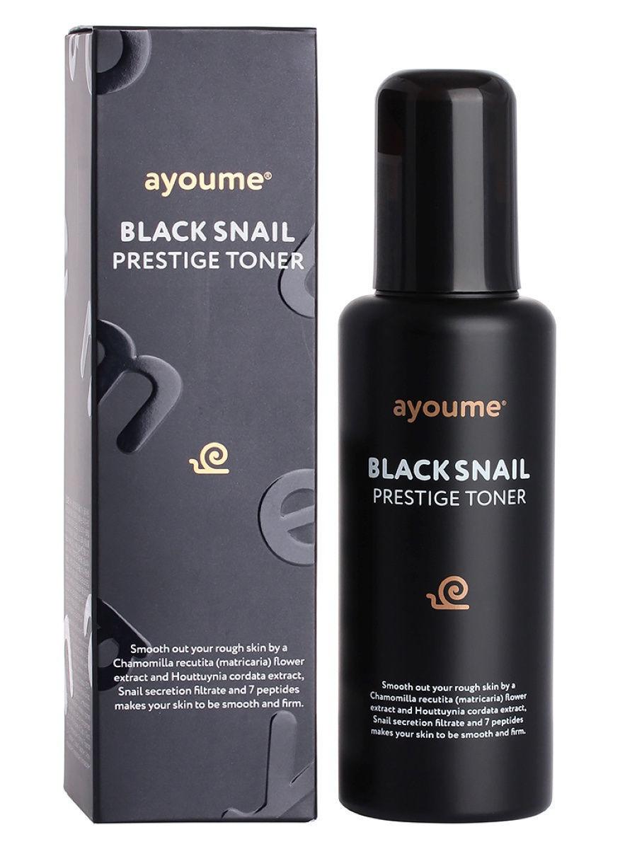 Тонер для лица с муцином черной улитки, 150 мл, Ayome Black Snail Prestige Toner