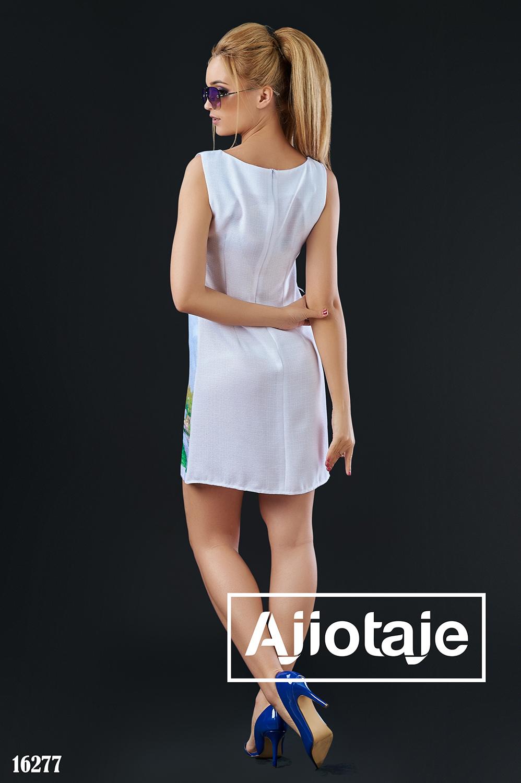 Легкое льняное платье-шифт белого цвета