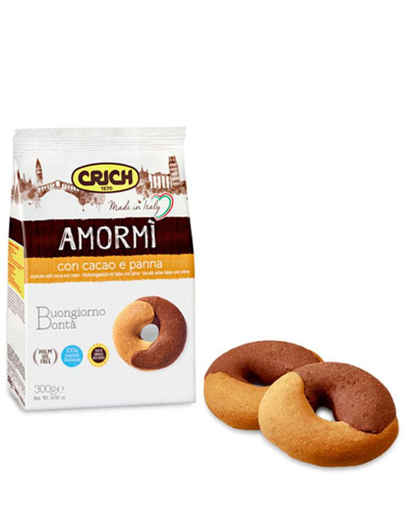 Печенье песочное Crich с какао и сливками, 300 гр.